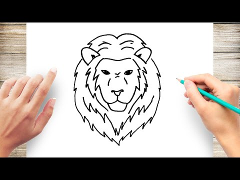 Images of lion and mouse drawing