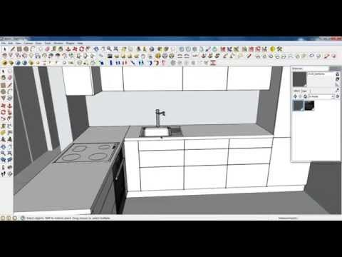 Google Sketchup Tutorial Part 03: Kitchen modeling (Sink and tap)