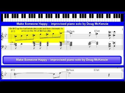 'Make Someone Happy' - jazz piano tutorial