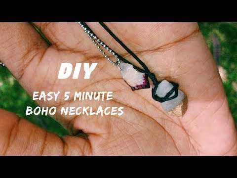 diy easy rock necklace + choker | alreadiy