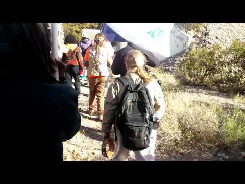 Sacred Peace Walk 2017 culvert tunnels vigil at Nevada Test Site