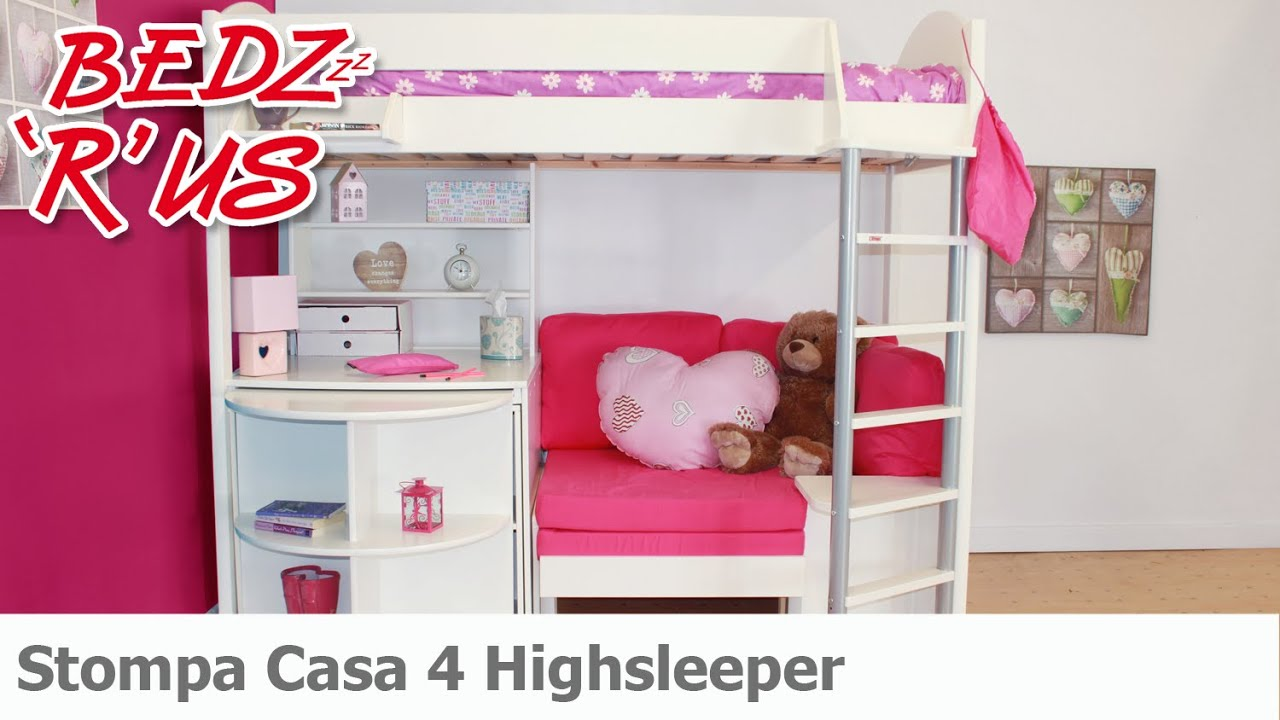 Stompa Casa 4 Highsleeper Bed BedzRus YouTube