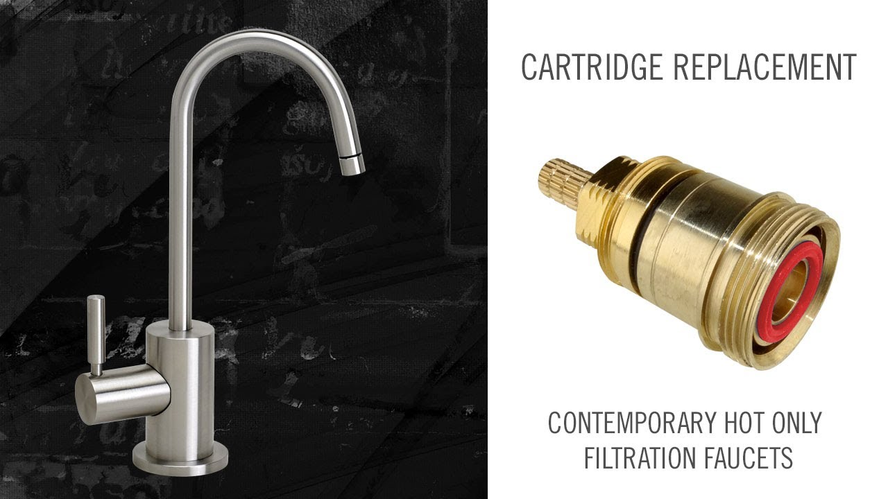 cartridge replacement on contemporary waterstone hot only filtration faucets