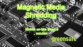 GreensafeIT Hard Disk Drive Shredding mechanics