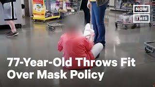 Woman Sits on Floor in Anti-Mask Temper Tantrum | NowThis