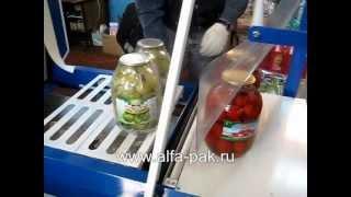 видео термоусадочная упаковочная машина