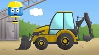 खोदक मशीन - टॉम और मैट निर्माण ट्रक | बच्चों के लिए निर्माण कार्टून