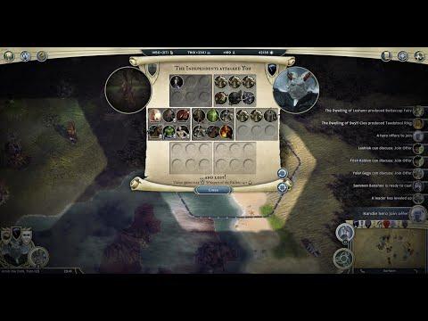 Age of Wonders III Human Warlord vs Bone Dragons |