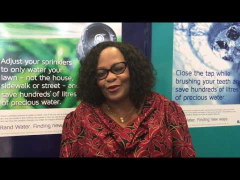 Minister Mokonyane talking about the Water Summit held in Durban, South Africa