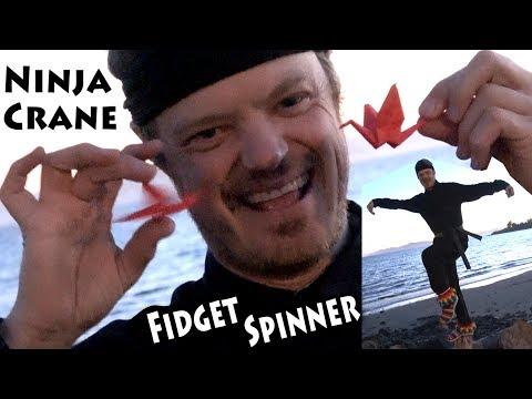 Ninja Crane Fidget Spinner (no bearings)