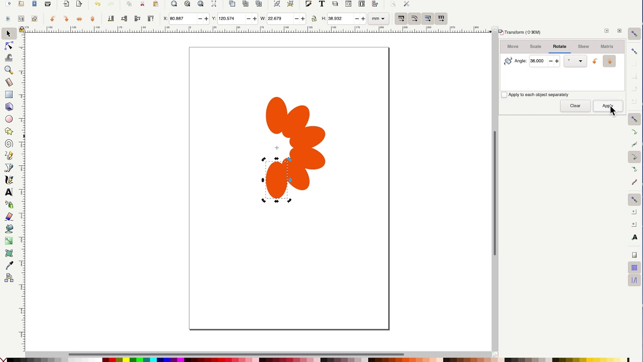 Inkscape: Draw a Vector Flower