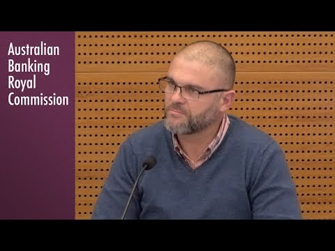 A Bank of Melbourne business customer testifies at the Banking Royal Commission