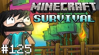Minecraft : Survival - Part 125 - Creeper Lightning Rod
