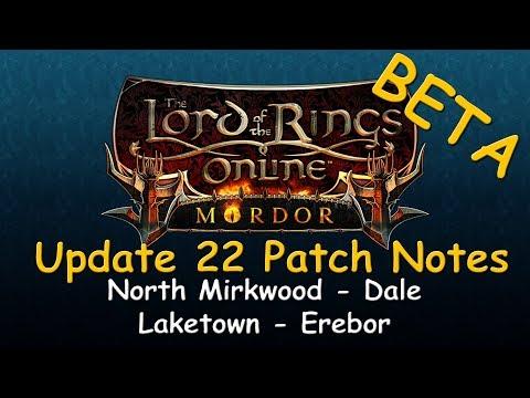 LOTRO Beta News - Update 22 Patch Notes: North Mirkwood, Dale, Lake-town & Erebor!