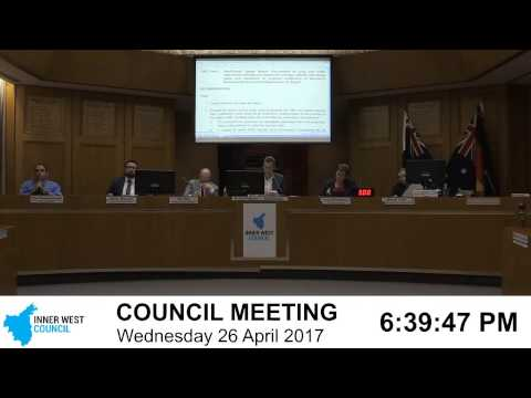 Inner West Council | Council Meeting | 26/04/2017