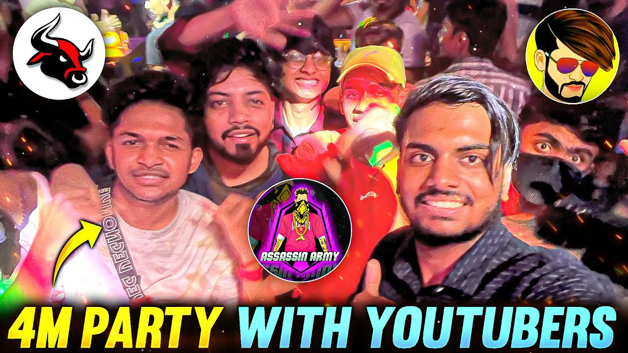 4M Party With LokeshGamer UngraduateGamer Late Night Party 4m Special Vlog 😱 - Garena Free Fire