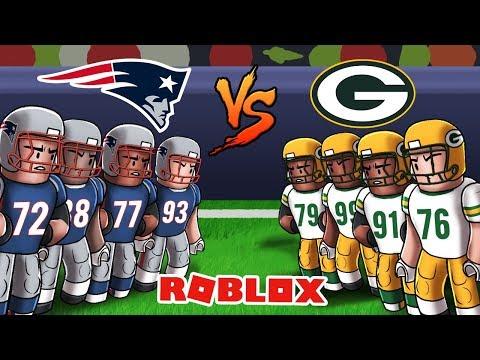Roblox NFL Football - Patriots vs Packers! (Legendary football)