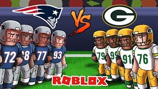 Roblox NFL Football - Patriots vs Packers! (Legendary football)