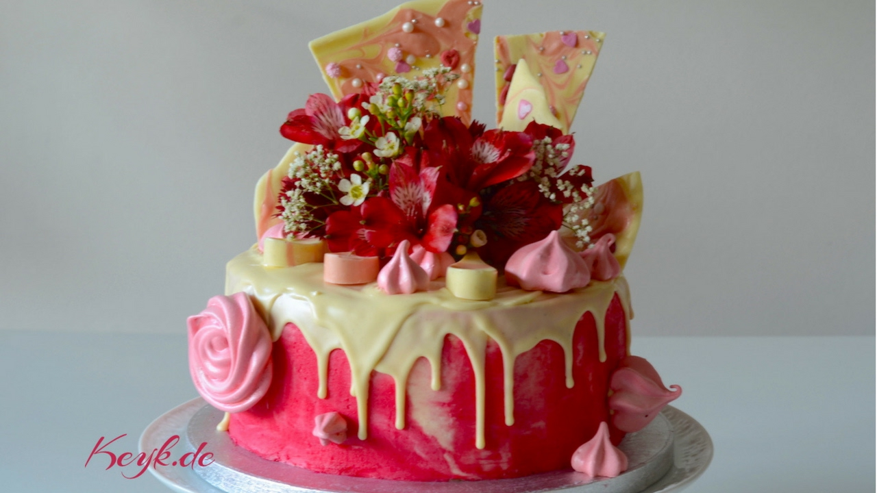 Pink Drip Cake Valentinstag Und Muttertag S Kuchen Rezept Youtube