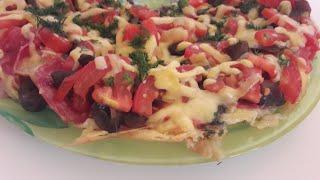 Пицца быстрого приготовления на сковороде ПЯТИМИНУТКА