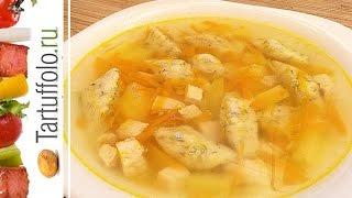 Суп с творожными галушками