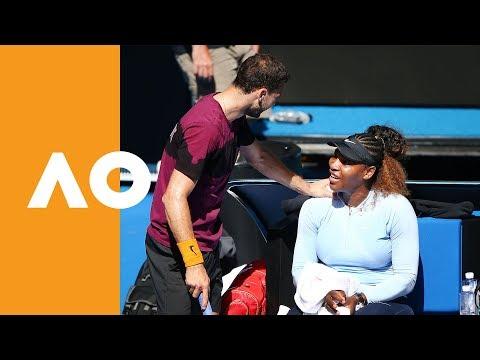 Serena Williams burns up RLA with Grigor Dimitrov