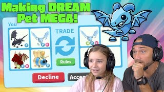 Trading ONLY To Make My Dad's DREAM Pet A MEGA NEON FROST DRAGON!! Roblox Adopt Me!