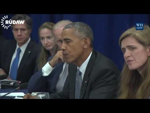 Iraqi PM Haider al-Abadi meets with the US President Barack Obama
