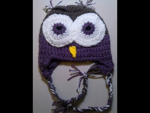 Crochet Owl Beanie - Part  1 - Yolanda Soto Lopez