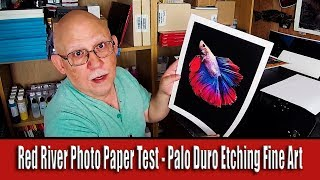 Red River Photo Paper test   Palo Duro Etching Fine Art