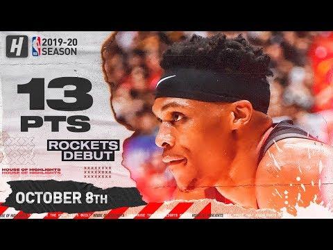 Russell Westbrook Rockets DEBUT Full Highlights Vs Raptors (2019.10.08) - 13 Pts, 6 Ast!