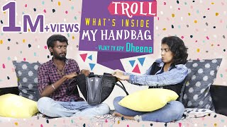 KPY Dheena - Vijay Tv gives voice for Bigg Boss 2 Tamil / What's Inside My Handbag Troll Version