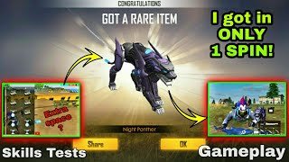 New pet Night Panther in Luck Royal Garena Free Fire | Review and Skill test By DEATH RAIDER GAMING