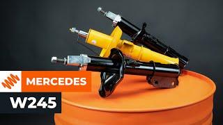Kuinka vaihtaa etuiskunvaimentimet MERCEDES-BENZ B W245 -merkkiseen autoon [OHJEVIDEO AUTODOC]