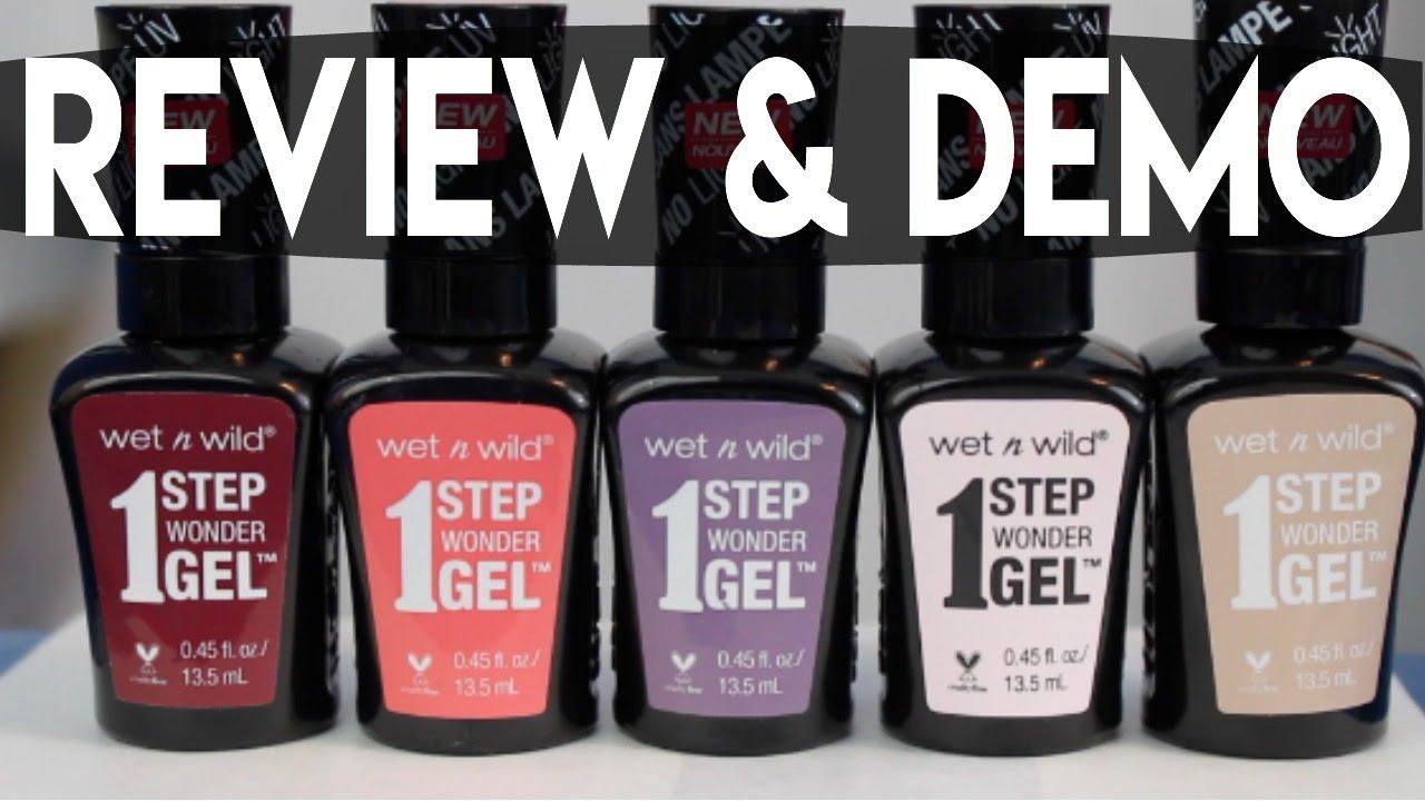 Wet N Wild Gel Nail Polish: REVIEW & DEMO - YouTube