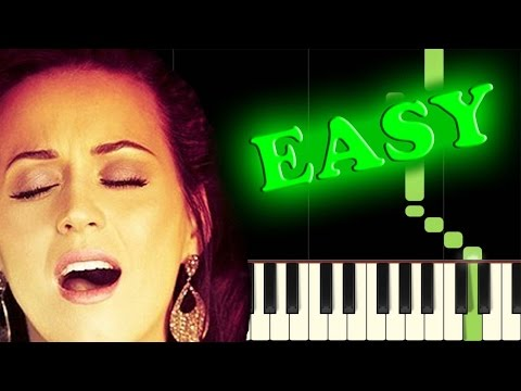 KATY PERRY - FIREWORK - Easy Piano Tutorial
