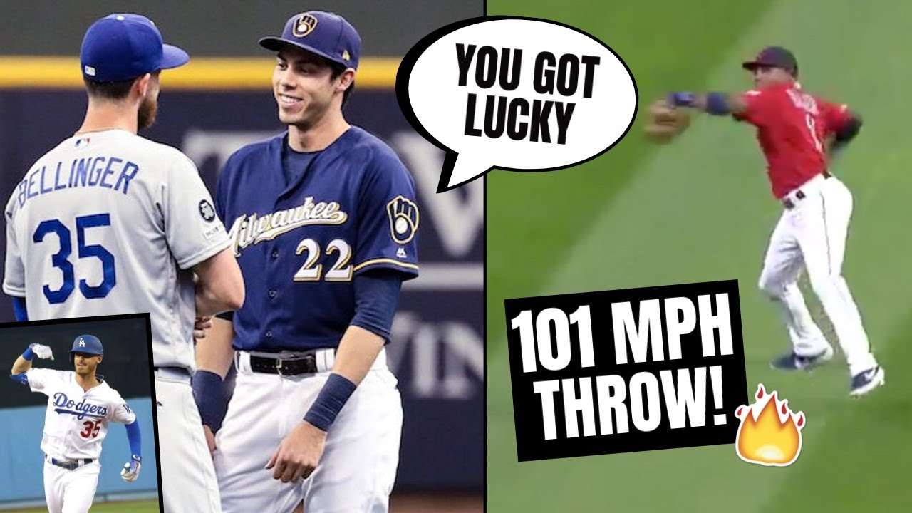 Cody Bellinger PASSES Christian Yelich On Home Run! Outfielder Throws 101MPH ****ist (MLB Recap)