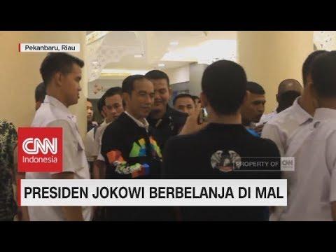 Heboh! Pengunjung Mal Bertemu Jokowi Berbelanja di Mal