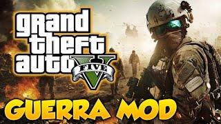 GTA 5 GUERRA MOD!!! Guerra En Los Santos Gameplay Con Mods GTA 5 PC Mod