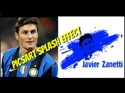 #Tutorial Picsart | Splash Effect Face Javier Zanetti Inter Milan