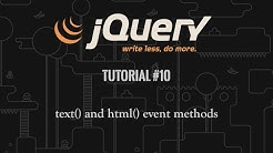 jQuery Tutorial 10: text() and html()