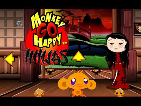 Monkey GO Happy Ninjas Walkthrough