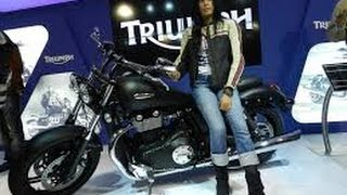 Hyderabad auto expo 2016 Triumph cruiser