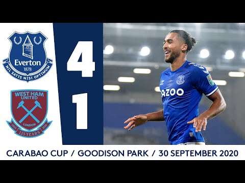 EVERTON 4-1 WEST HAM | CARABAO CUP HIGHLIGHTS