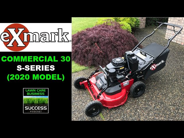 Exmark Commercial 30 S-Series | Detailed First Look and First Mow (2020 model)