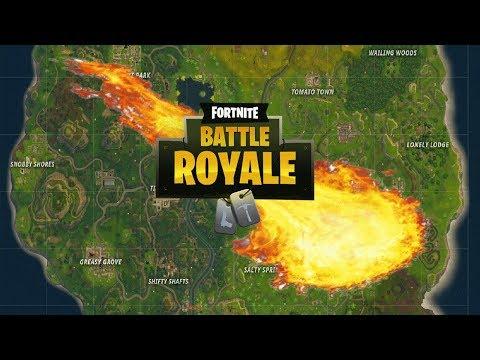 Crashing Asteroid On Fortnite Battle Royale!