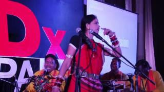 Mahabharata as musical narrative-Pandavani | Ritu verma Pandavani group. & Teejan Bai | TEDxPandri