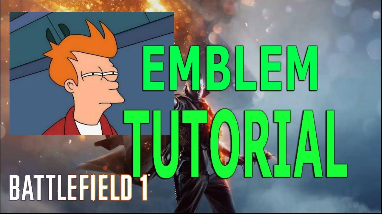 how to make battlefield 1 emblem