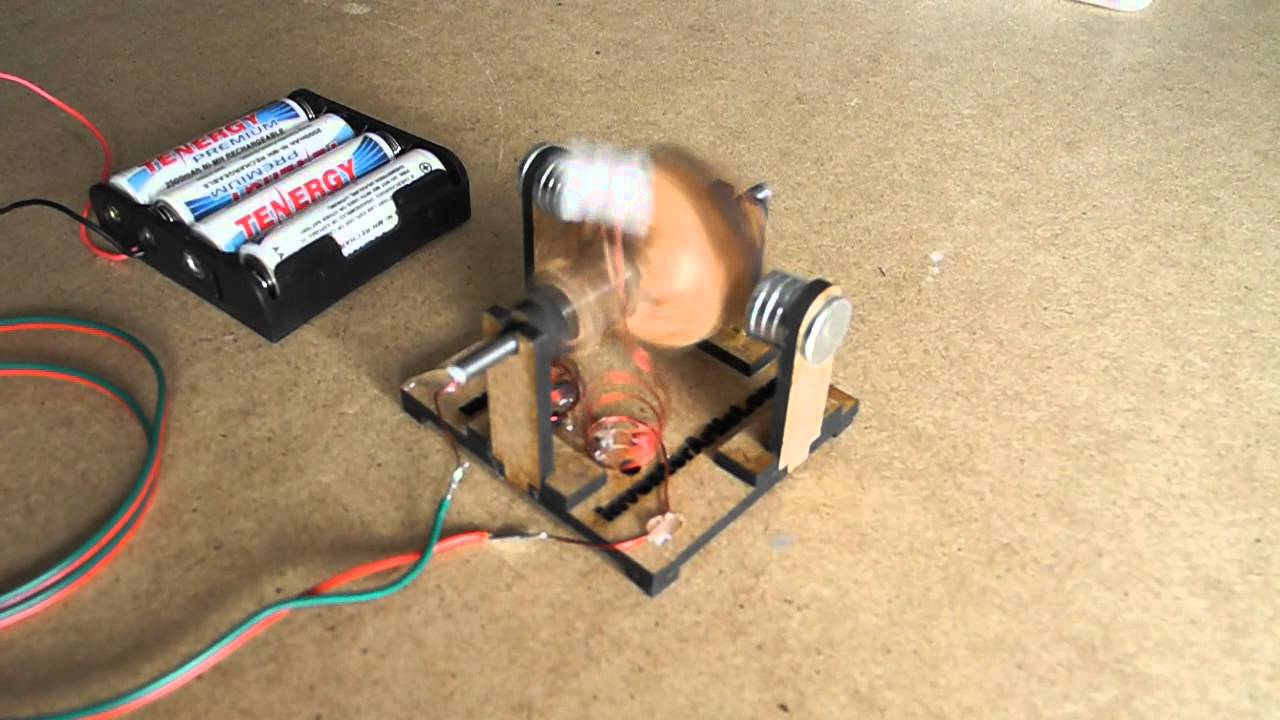 DIY DC Motor - YouTube