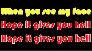 The All-American Rejects -Gives You Hell (Lyrics)